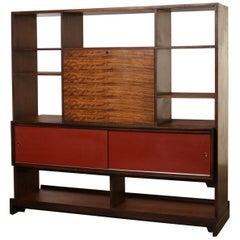 Milo Baughman for Drexel Room Divider, Shelving Unit with Desk