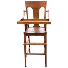 Craftsman High Chair in Oak, circa 1920