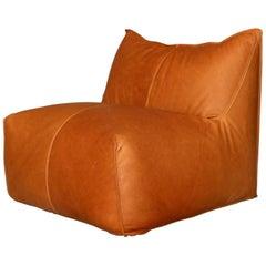 Vintage Mario Bellini Bambole One-Seat for B&B Italia Cognac Full Grain Leather
