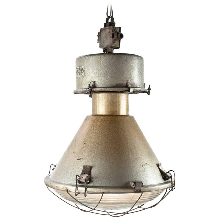 Large Industrial Pendant Light Stock Of Ten Vintage
