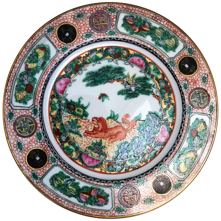 20th Century Polychrome Charger Plate