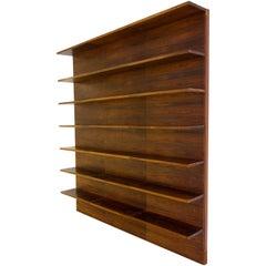 Rosewood Bookcase, Bookshelves, Wandsystem