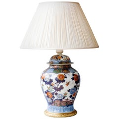 19th Century Meiji Porcelain Vase With Gilt Bronze Mounts Converted to a Lamp