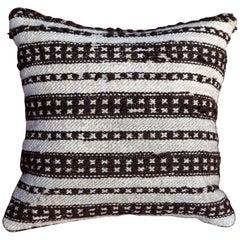 Handmade Turkish Rug Cushion with Trim Detailing