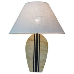 Table Lamp in Stone Marquetry
