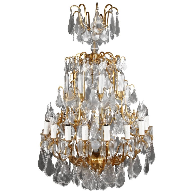 French Prisms Chandelier in Louis XV Style