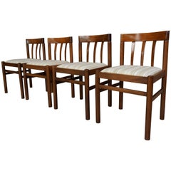 Set of Four Scandinavian Chairs Design of the 1960s