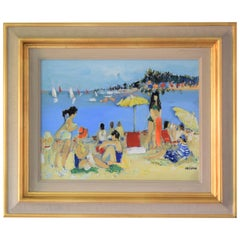 20th Century, Impressionist Style, Beach Scene by Yolande Ardissone
