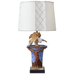 Colorful Porcelain Leaf Table Lamp