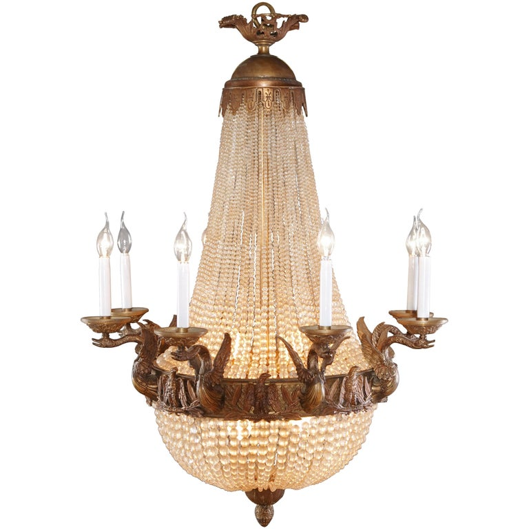 Splendid Chandelier in French Empire Style