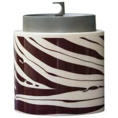 Aldo Tura Goatskin Zebra Ice Bucket, 1960