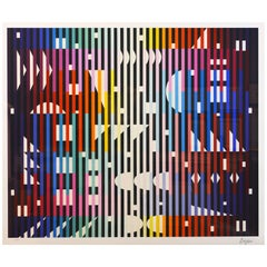 'Sparkling Night Rainbow' Extra Large Serigraph Signed/Numbered by Yaacov Agam