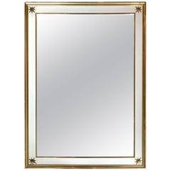 Renzo Rutili Brass Clad Star Mirror
