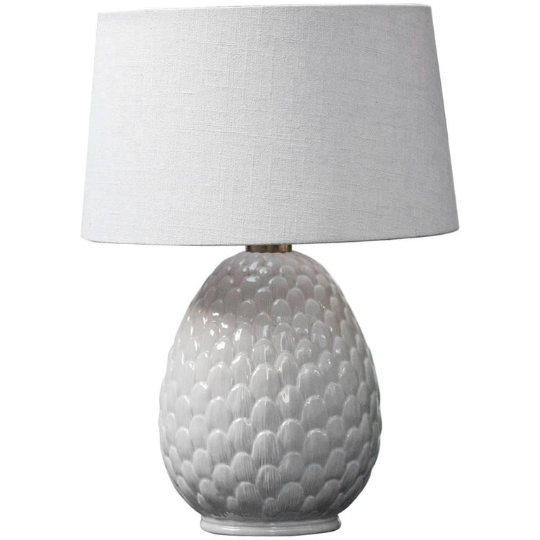 Porcelain Artichaud Table Lamp, Italy, 1970 For Sale