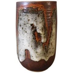 Vase in Brown with a Light Glaze by Jørgen Mogensen, 1960s