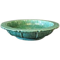 Dark Green Ceramic Bowl, Stamped XS, Danish Design, 1960s