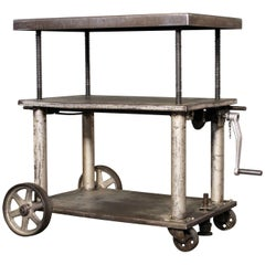 Industrial Wood And Steel Iron Storage Shelving Rolling