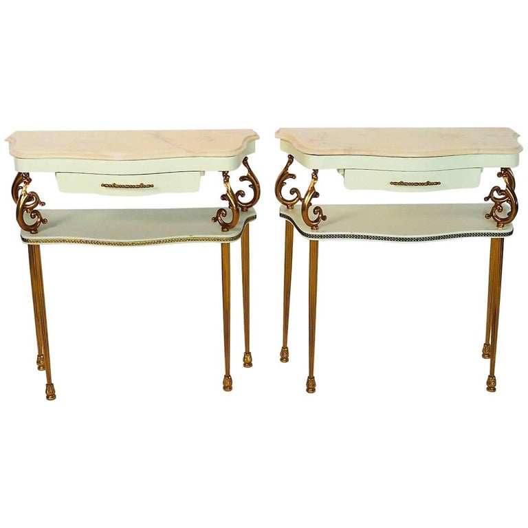 Italian Nightstands, 1950s, Set of Two