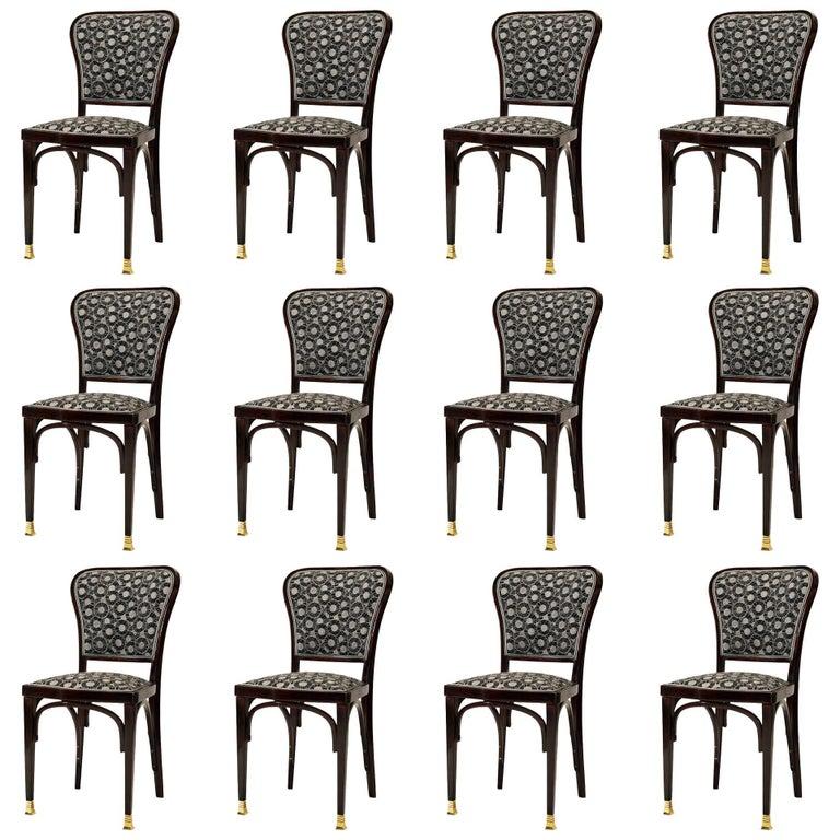 Dining Room Chairs by Gustav Siegel for J. J. Kohn Model 717