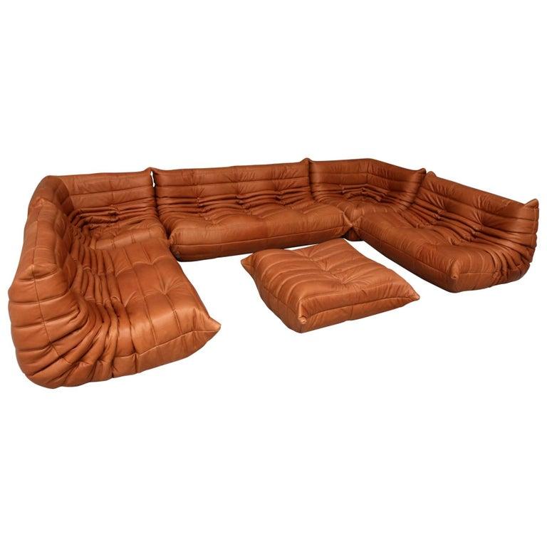 large set of togo by michel ducaroy for ligne roset france. Black Bedroom Furniture Sets. Home Design Ideas