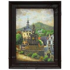 Bohemian Oil Painting of Carlsbad by Bernatova