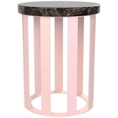 Float Side table by Pieces, Modern Customizable End Table Granite Glass Marble