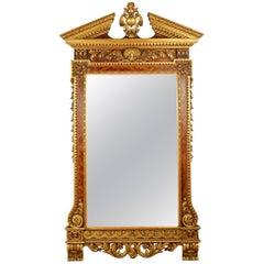 Large George II Style Wall Mirror, 19th Century