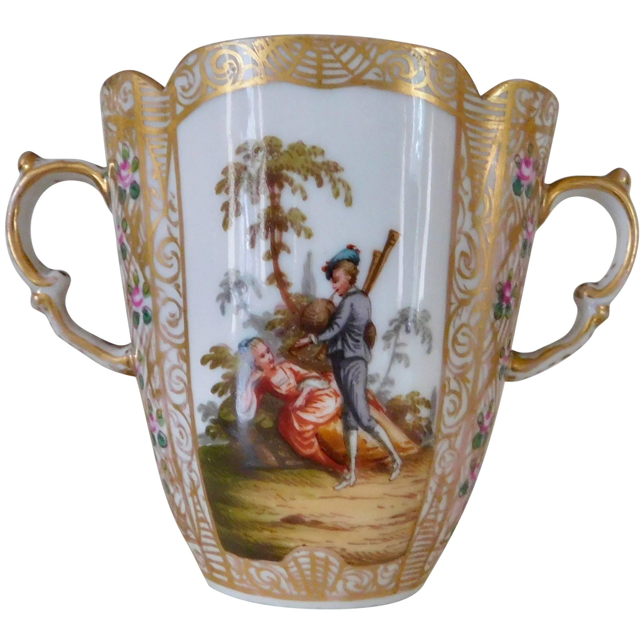 19th Century Antique Helena Wolfsohn Porcelain Cabinet Chocolate Cup, circa 1880