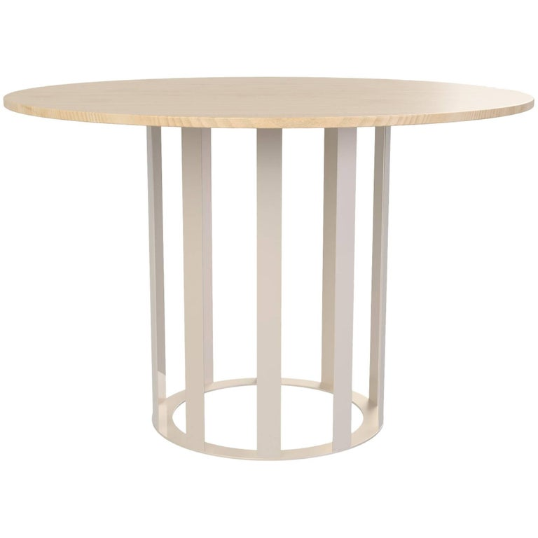 Flux Round Dining Table by Pieces, Modern Customizable in Granite Terrazzo Wood