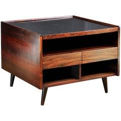 Arne Vodder Rosewood Hidden Liquor Cabinet Sofa or Side Table