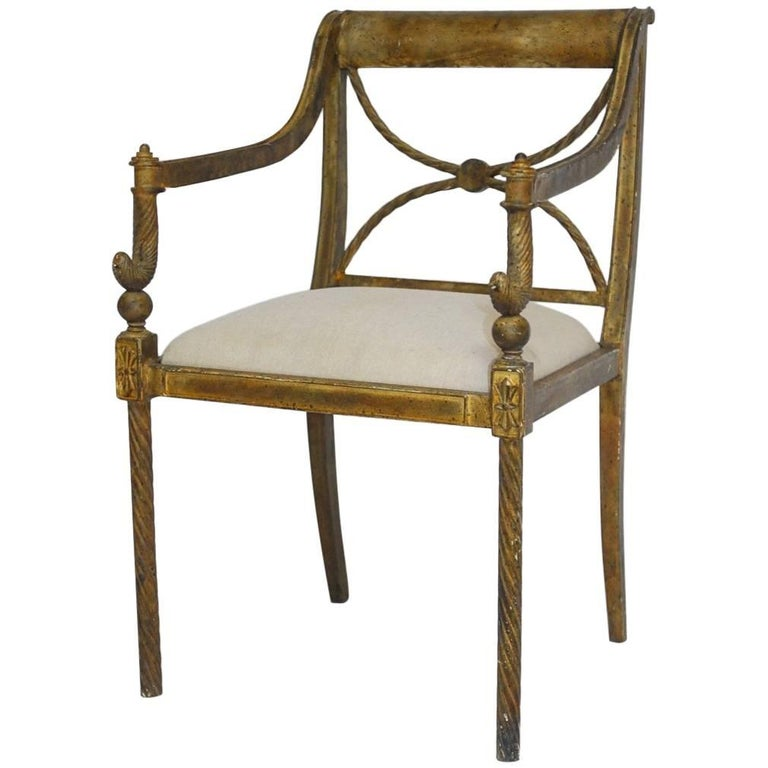 Regency neoclassical metal rope armchair, 1960