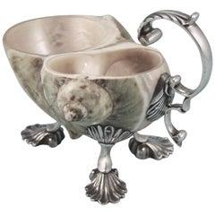 George III Silver Mounted Shell Cream Jug, circa 1780