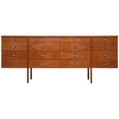 Paul McCobb Mid-Century Walnut Chest of Drawers or Sideboard, USA, 1960s