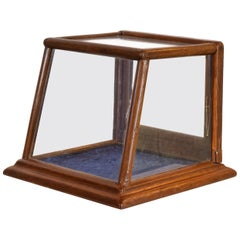 Small Walnut Display Box, circa 1920