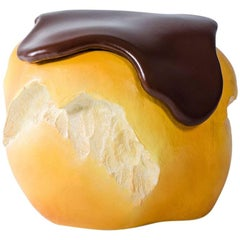 "Pouf ""Bigne'"" Big Eat Series Hand-Carved Polyurethane Numbered and Signed"
