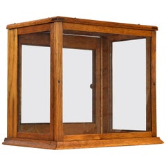 Small Rectangular Oak Display Box, circa 1920