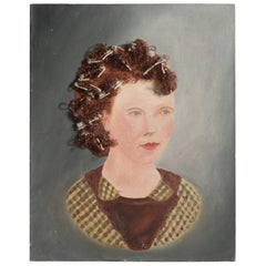 Painting of a Woman with Curlers, circa 1950