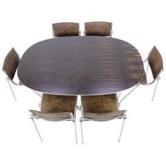 """1970s Piet Hein """"Superellipse"""" Dining Table by Fritz Hansen"""