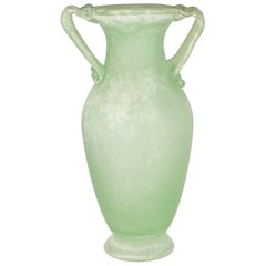 Large Murano Scavo Vase