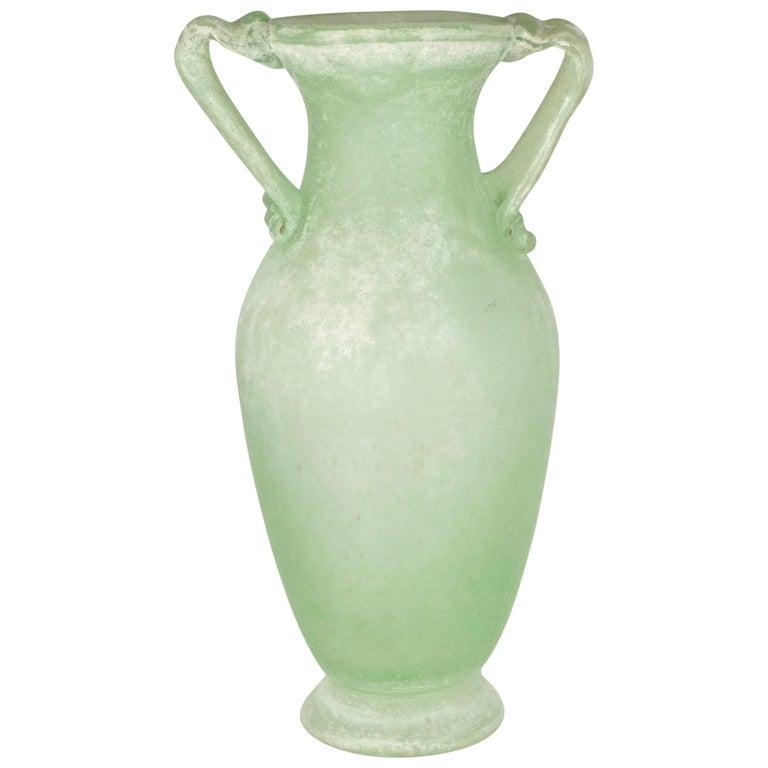 Large Murano Scavo Vase 1