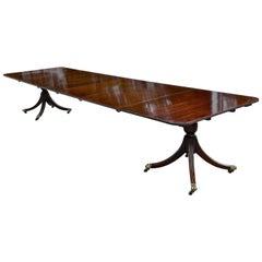 Late 19th Century Regency Style Mahogany Dining Table