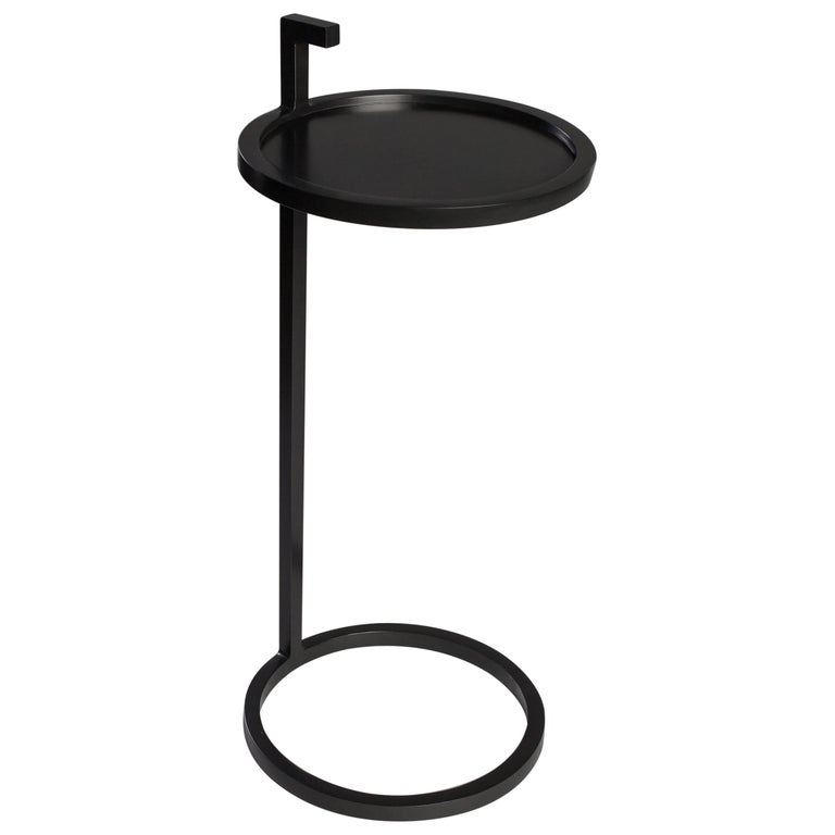Kangaroo Martini Table in Steel Powder Coated, Art Deco Inspired, Round Shape