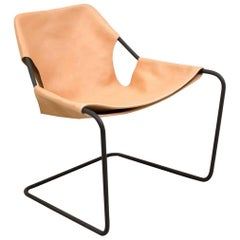 Paulistano Chair in Natural Leather by Paulo Mendes da Rocha