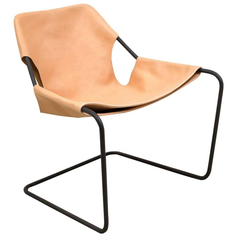 Paulistano Chair in Natural Leather by Paulo Mendes da Rocha 1