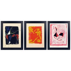 Selection of Three Abstract Marino Marini Lithographs