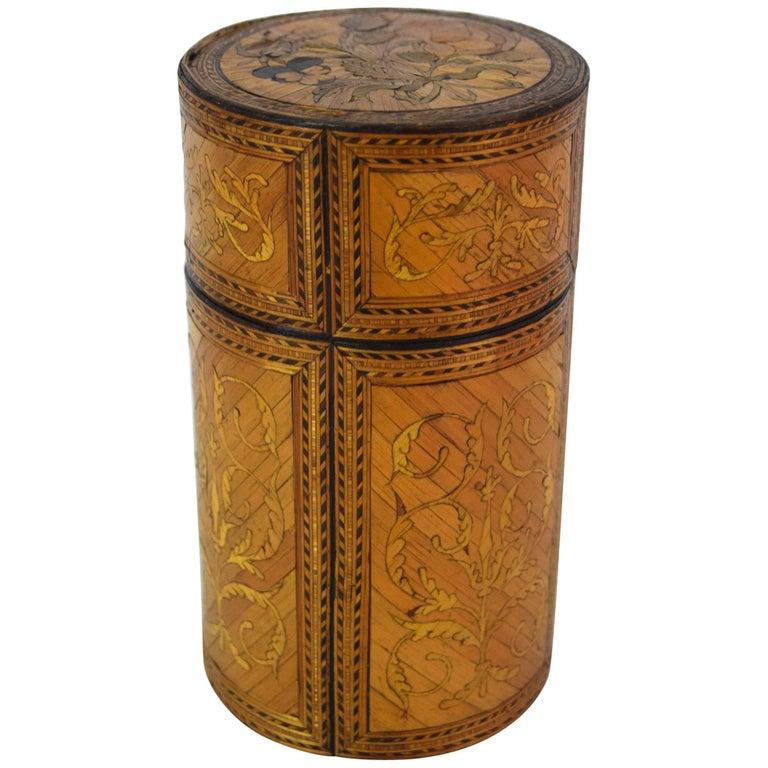 Rare Napoleonic Straw Marquetry Box