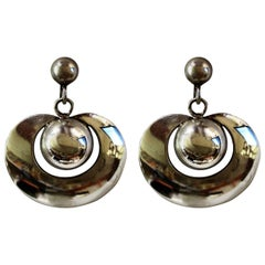 Pair of William Spratling Sterling Silver Earrings