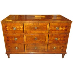 A Fine Antique Neapolitan Parquetry Commode