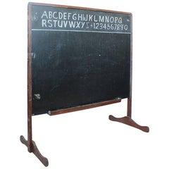 Vintage American Double Sided School Chalkboard