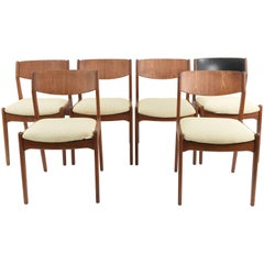 Set of Six Teak Sorø Stolefabrik Side Chairs